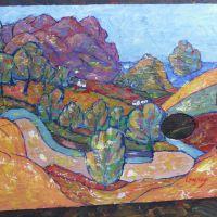 Landscape  size:30*40cm