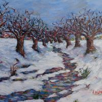 Snow in Limnos  size:40*50cm