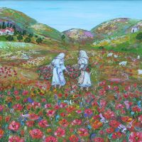 Spring in Limnos  size:30*40cm